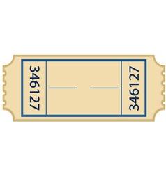 paper ticket vector image