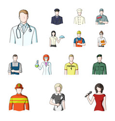 People of different professions cartoon icons in vector