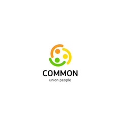 People union logo common people logotype vector