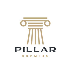 pillar column greek ionic logo icon vector image
