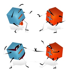 Plus and Minus Funny Toy Blocks vector