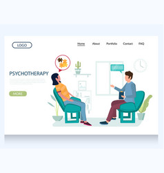 psychotherapy website landing page design vector image