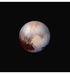 Realistic planet Pluto vector