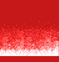 Red mosaic background abstract pattern vector