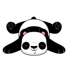 Resting panda vector