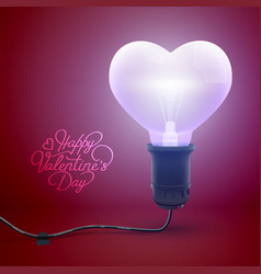 romantic bright greeting template vector image