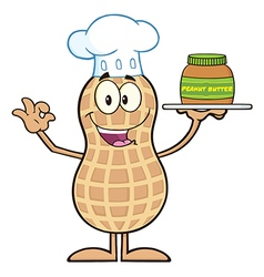 Royalty free rf clipart chef peanut cartoon vector