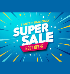 sale banner template end season special offer vector image