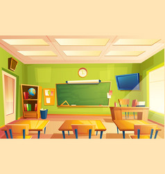 School classroom interior training room vector