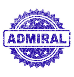 Scratched admiral stamp seal vector