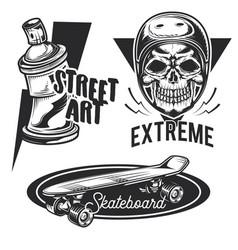 set street activities emblems vector image