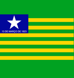 Simple flag state of brazil vector