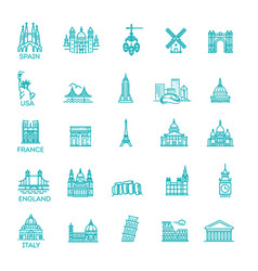 Simple linear icon set representing global vector