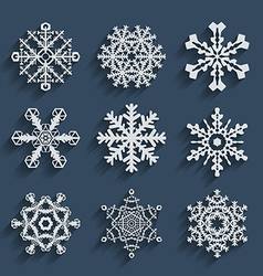 Snowflakes icon set collection vector image