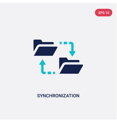 Two color synchronization icon from big data vector