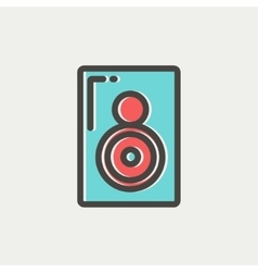 Two way audio speaker thin line icon vector image
