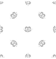 unique rings jewellery pattern seamless vector image