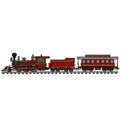Vintage american train vector