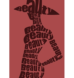 Woman in from words vector