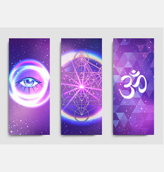 Yoga mat design set colorful template for vector