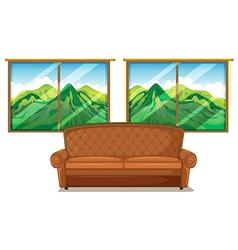 A sofa near the window vector image