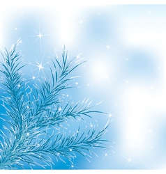 blue xmass tree vector image vector image