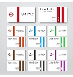 Business cards templates in the style of the vector image