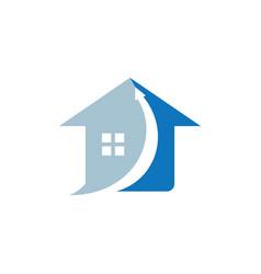 home arrow up logo vector image