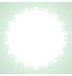 lace doily on green background vector image