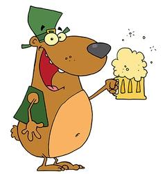 St Patricks Day Bear vector image