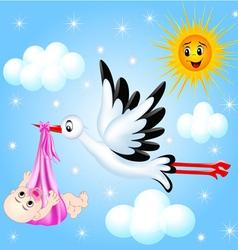 Stork Nursery Background vector image vector image