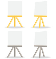 wooden easel drawing board vector image vector image