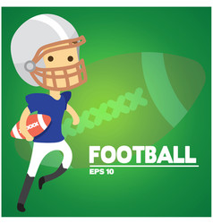 football text american football player background vector image