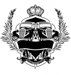 old car crest vector image vector image