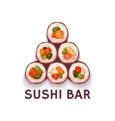 Pyramid for Sushi Bar vector image