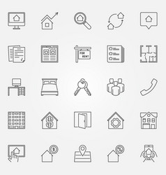 rent icons set vector image
