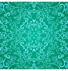 Seamless emerald floral pattern vector