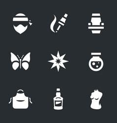 set of tattoo salon icons vector image