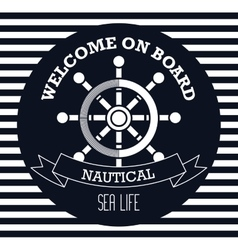 welcome on board emblem design vector image