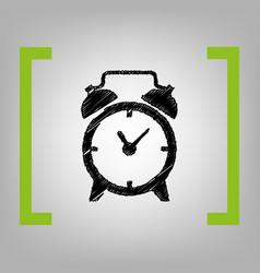 alarm clock sign black scribble icon in vector image vector image