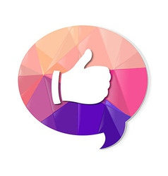 Colorful Speech Bubble With Best Choice Symbol vector image vector image