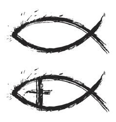 Fish christian vector