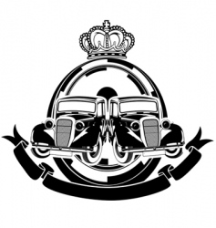 old car crest vector image