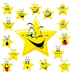 yellow stars vector image vector image