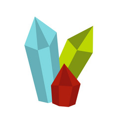 diamonds icon flat style vector image