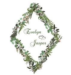 73 floral card design green fern forest leaves vector