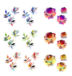 abstract floral elements bright flower vector image