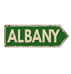 albany vintage rusty metal sign vector image