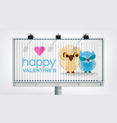 Amourous greeting advertising billboard template vector