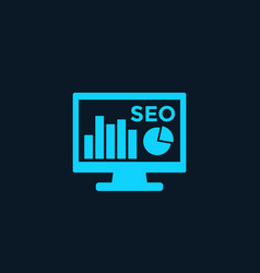 analytics seo analysis icon vector image